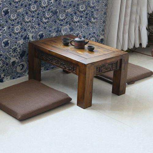 Tatami Floor Mat Tie On Pads Back Pillow Pure