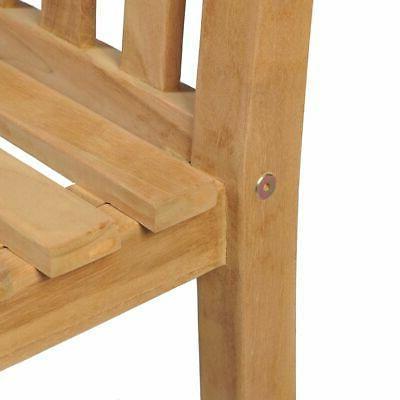 vidaXL Outdoor Chair Wooden Backyard Seat