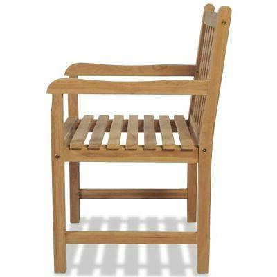 vidaXL Chair Wooden Backyard Garden