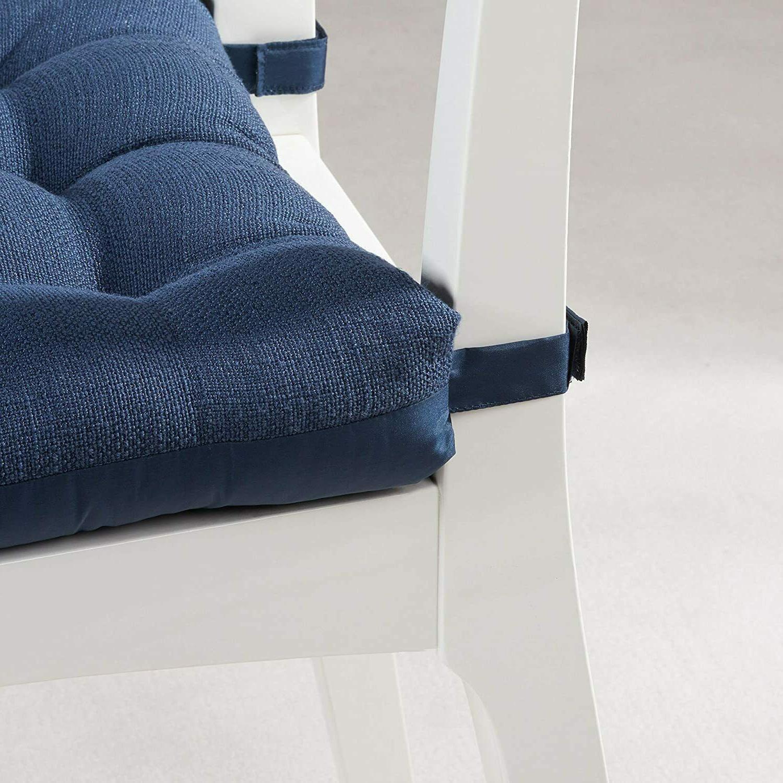Textured Blue of 4 Chair Modern
