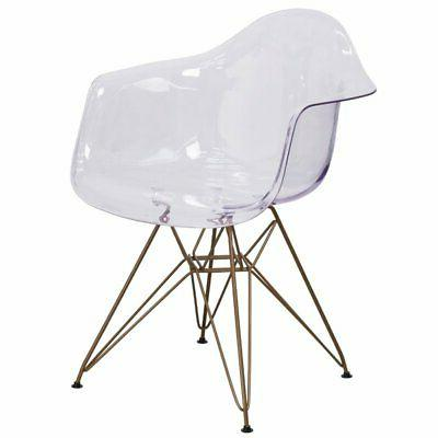 transparent plastic chair accent side