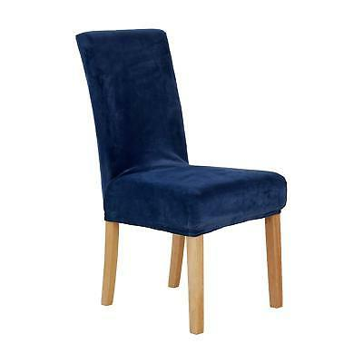 universal dining chair covers strench navy blue