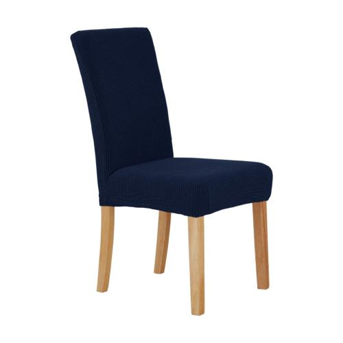 Deconovo Universal Dining Chair Covers Strench Navy Blue Wat