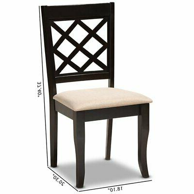 Espresso Brown Finished Wood Dining Chair