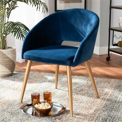 Blue Velvet Upholstered Dining