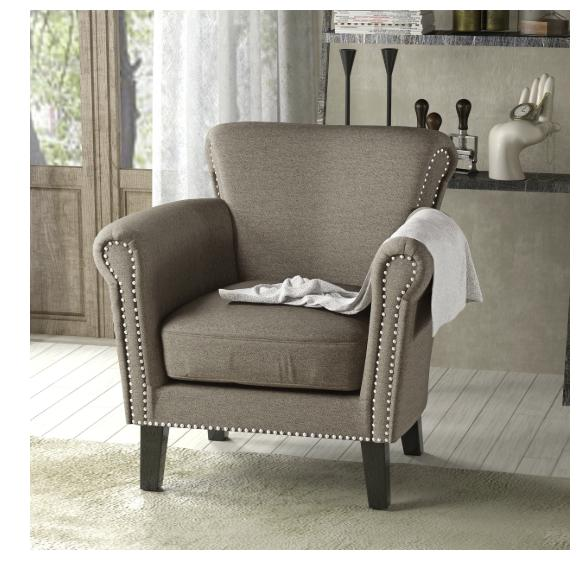 Vintage Studded Fabric Club Chair Christopher Home Coffee Furniture