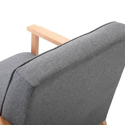 Wood Fabric Upholstered Chair