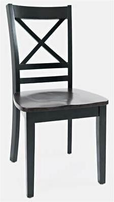 X Back Chair in Black and Autumn - Set of 2