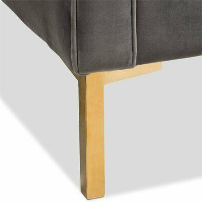 Tufted Lounge Grey Gold