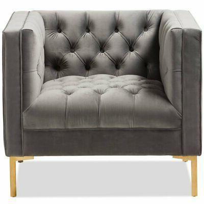 Baxton Tufted Lounge Grey