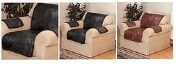 Leather Chair Cover, Patchwork Leather Chair Protect Cover,