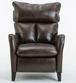Leather Manual Reclining Pushback Recliners Single Chair wit