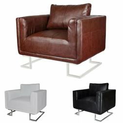 Leather Modern Occasional Bedroom Accent Chair Armchair Upho