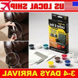 Leather Repair Kit Brown Black Color Vinyl for Furniture Cha