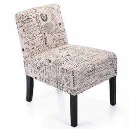 Tobbi Leisure Armless Accent Chair Sofa Single Couch Seat Wo