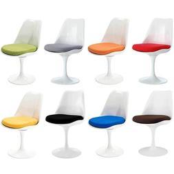 Lippa Modern Swivel 360 Dining Side Chair White Glossy ABS C