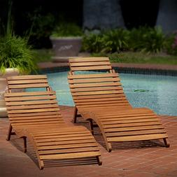 Lisbon Outdoor Folding Chaise Lounge Chair