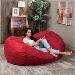 Love Sac Adult kids Bean Bag Chair Fuf Huge 6FT Media Lounge