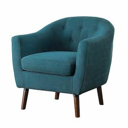 Homelegance Lucille Fabric Upholstered Pub Barrel Chair, Blu