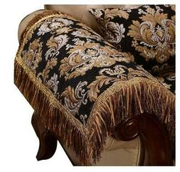 Luxury Foam Arm Cover Chair Pad Tassel Non Slip For Leather