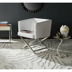 Luxury White Chair Modern Living Room Accent Club Leather El