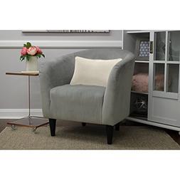 Mainstays Microfiber Tub Accent Chair, Nove Gray