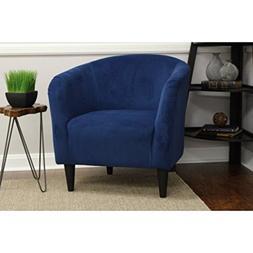 Mainstays Microfiber Tub Accent Chair, Navy Blue