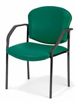 OFM Manor Series Deluxe Vinyl Stacking Guest Chair, Teal