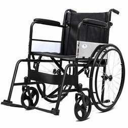Giantex Manual Folding Medical Transport Wheelchair w/ Footr