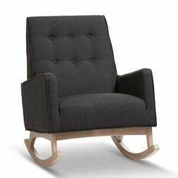 Baxton Studio Marlena Upholstered Rocking Chair