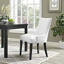 Modway Marquis Faux Leather Upholstered Dining Side Chair in