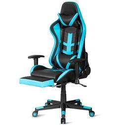 Massage Gaming Chair Reclining Ergonomic Racing Chair High B