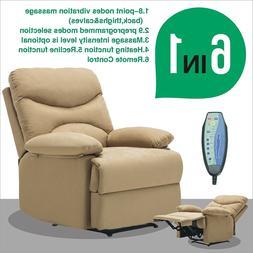 Massage Recliner Sofa Chair Microfiber Ergonomic Lounge Swiv