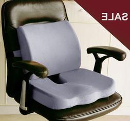 Memory Foam Coccyx Orthoped Seat Pad Back Support Cushion Lu