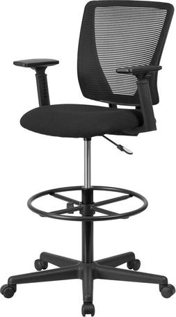 Mesh Mid Back Home Office Drafting Bar Counter High Stools C