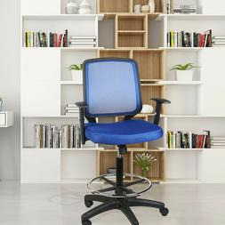 Mesh Mid Back Office Drafting Bar Chair Counter High Stools