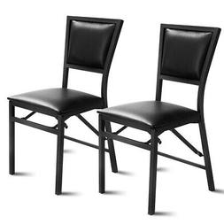 Set of 2 Metal Folding Chair Dining Chairs Home Restaurant F