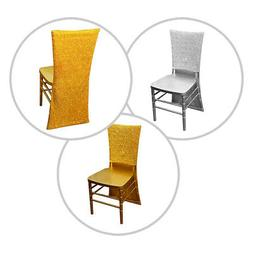 Metallic Spandex Slipcover CHAIR COVERS Wedding Party Recept