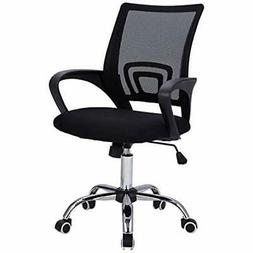 Mid-Back Mesh Office Chair Adjustable Ergonomic W/Lumbar Sup