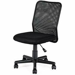 Mid-Back Mesh Office Chair Armless Ergonomic Swivel Computer