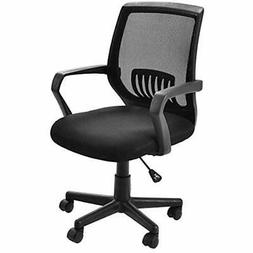 Mid-Back Mesh Office Chair With Lumbar Support Ergonomic Com