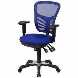 Mid-Back Multifunction Ergonomic Office Chair with Arms