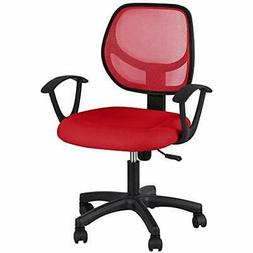 Mid Back Office Chair Ergonomic Computer Desk With Lumbar Su