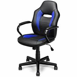 Mid-Back Office Chair, PU Leather With Breathable Cushion Co