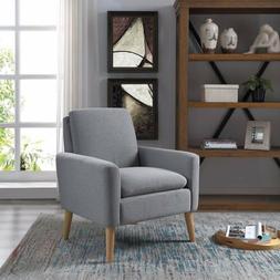 Mid Century Modern Tufted Sofa Velvet Accent Farbic Armchair