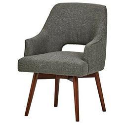 """Rivet Mid-Century Open Back Swivel Chair, 24""""W, Marble"""
