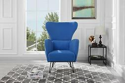 Mid-Century Velvet Accent Arm Chair with Shelter Style Livin