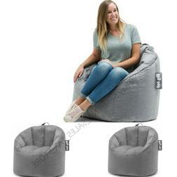 Big Joe Milano Bean Bag Chair Soft Cozy Comfy Lightweight Ki