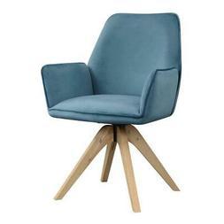 Convenience Concepts Miranda Accent Chair in Blue Linen Fabr