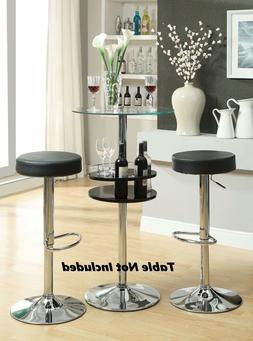 "Modern Black Dining Chairs and Bar Stools 29"" Adjustable Hei"